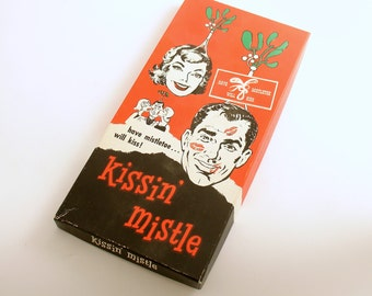 Vintage Christmas Kissin Mistle Have Mistletoe Will Kiss Headband
