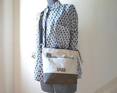 Custom Order for K, Vtg bank canvas cross body bag - eco vintage fabrics