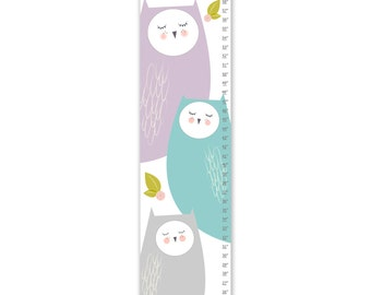 Growth Chart, Owl Growth Chart, Purple Owl Growth Chart, Custom Growth Chart, Custom Purple Growth Chart, Canvas Growth Chart
