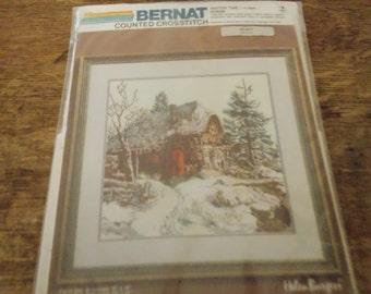 WINTER TIME Bernat Counted Cross Stitch KIT Helen Burgess