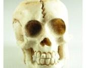 Skull pendant white, dia de los muertos skull, skull charm