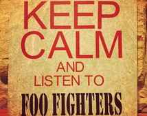 Keep Calm and Listen to Foo Fighters decorative ceramic tile