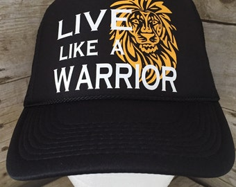 Live Like A Warrior -Matisyahu inspired trucker hat