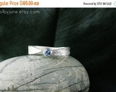 Valentines Day Sale Sterling Silver Sapphire Leaf Ring | Stacking Ring | Nature Inspired Ring