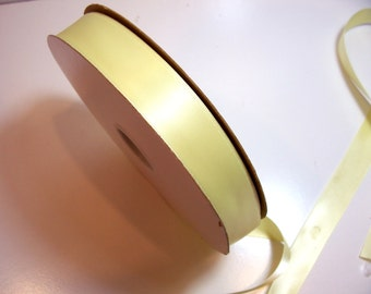 Yellow Ribbon, Double-Faced Yellow Satin Ribbon 7/8 inch wide x 10 yards,  Offray Green Tea Ribbon