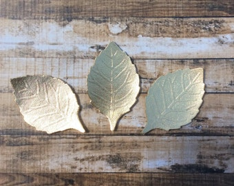 Metallic Gold Felt Embossed Leaves - Great with Flowers - You Pick Your Quantity - Metallic Felt - Metallic Leaves - Gold Leaves