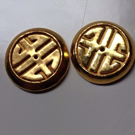 24K Gold Chinese Earring Jackets (4.6 g) 9999 Gold