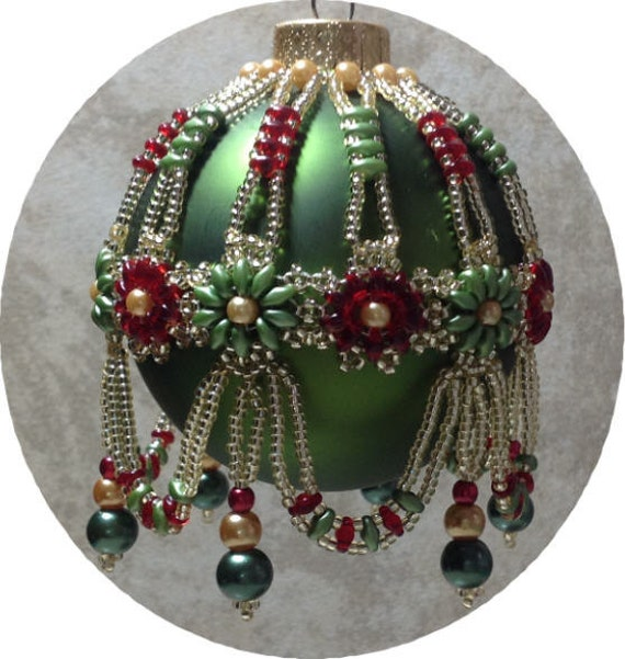 Victorian Splendor Beaded Ornament Cover Pattern From