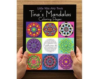 Mandala Coloring Book - Printed Coloring Pages in Folder -  Volume 6