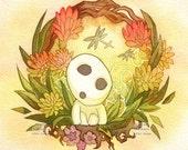 Princess Mononoke Kodama Forest Spirit Print
