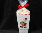 Christmas Popcorn Boxes - Santa Popcorn Box - Gift Box - Christmas Party Box - Party Favor Box - Santa With Reindeer - Set of 10