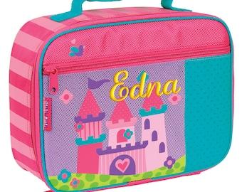Personalized Lunch Box Princess Castle Stephen Joseph Children Girl Toddler