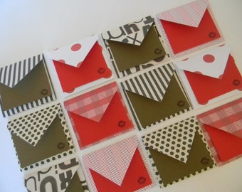 Set of 12 mini envelopes
