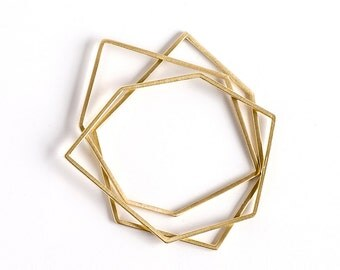 Thin Gold Bangle Bracelet, Stackable Bangle, Geometric Bangle, Gold Bangle Set, Minimalist Bangle, Stacking Bangle, Thin Bangle Bracelet