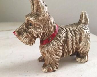 Tiny Syroco Terrier Dog Puppy Scottie Figure