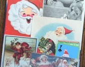 Santa Claus Vintage Christmas Collage, Scrapbook and December Daily Kit Number 1988