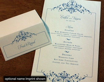 Erika Menu, Table Marker & Place Card Set