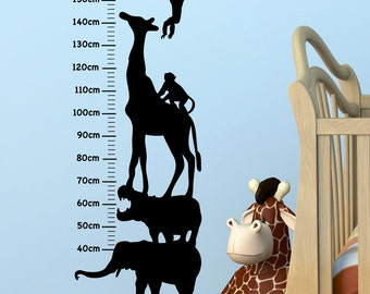 Safari Growth Chart - Wall Decal