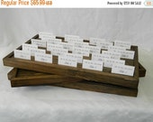 20% off ends Sun. at 5pm Rustic Wedding Place Card/Escort card Box/Tray( 22 L x 10 W x 1.5 T) Set of 2 Boxes