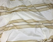 Ivory & Beige Stripes Silk TAFFETA Fabric - 1 Yard