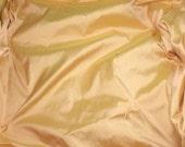 APRICOT PEACH Silk DUPIONI Fabric - fat 1/4