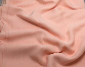 Silk Chiffon Fabric - PEACH - 1 Yard