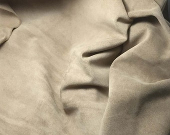 TAUPE BROWN Suede Lambskin Leather Hide Piece #4