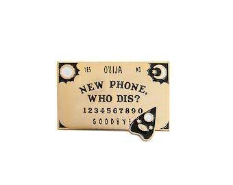new phone, who dis? ouija board pin | enamel pin | lapel pin