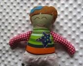 Sadie Small Handmade Fabric Baby Doll