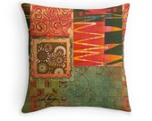 Toss Pillows, Decorative Pillows on Couch, Pillow Cover, Boho Chic House, Decorate Dorm Room Online, Tribal Living Room Decor, Art and Decor