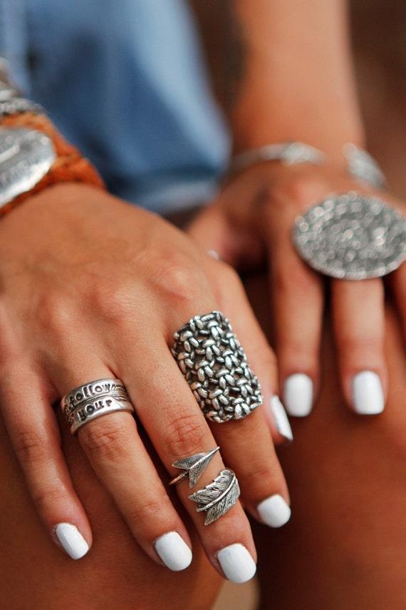 Hippie Rings Hippie Jewelry Silver Ring Bohemian Rings