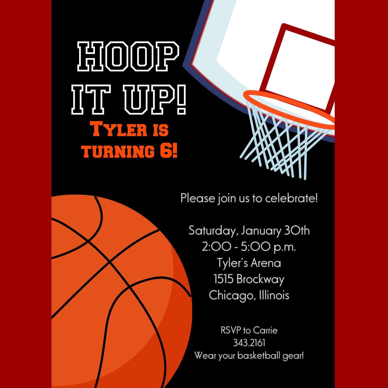 Basketball Party Invitation – Basketball Party Invitations