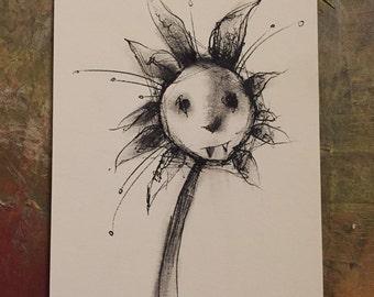 A fanged flower.