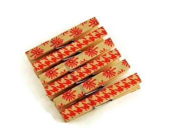 Decorative  Wooden Clothespins  Funky Clips Magnetic Clothespins in  Imani