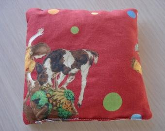 Handmade Traditional Children's Bean Bag Toy - New Retro Fabrics - 4.5 Inch