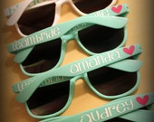 Personalized sunglasses~great for bachelorette parties, bridesmaids, birthday parties, girls weekends, graduations and vacations ~ 20 colors