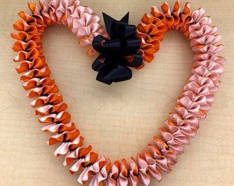 Graduation Wedding Birthday Hawaiian Plumeria Ribbon Lei