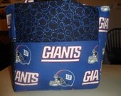 new york giants blue white football  bag/purse/ diaper bag