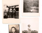 Eight Antique Photographs Women Snapshots Great for Altered Art Projects