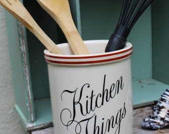 Ceramic Kitchen Crock - Kitchen Things -Kitchen utensils - TG Green Ltd.   Church Gresley - Made in England