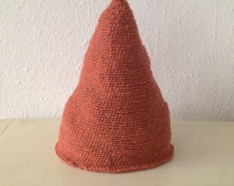 Whimsical woodland Pointy Elf Pixie Wool Beanie Hat