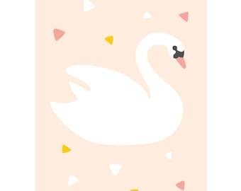 Swan postcard - Eco friendly
