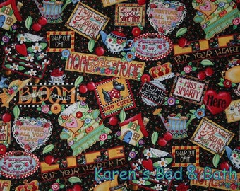 Sweet Home Fabric Mary Engelbreit Fabric Scottie Dog Fabric Wall Plaques Cotton Quilting Fabric t4-9