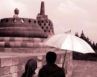Borobudur III - 5x7 photo in 8x10 mat, borobudur photography, indonesia photography, java photography, buddhist temple photography