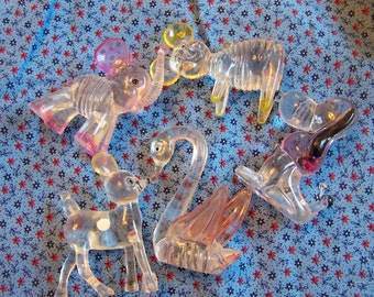 adorable vintage lucite animal collection