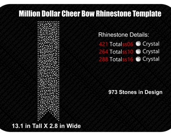 Million Dollar Rhinestone Cheer Bow Template INSTANT FILE DOWNLOAD