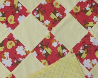 Cute Patchwork Quilts - Kids Quilts - Cows Sheep and Chicks Oh My
