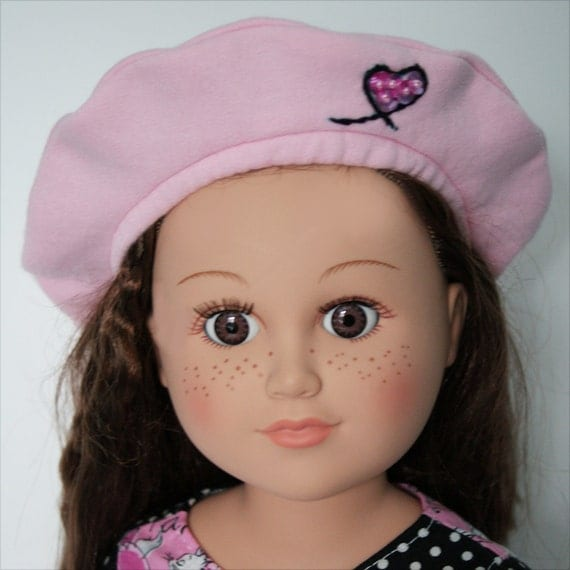 Pink Beret for 18-inch Dolls