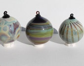 RARE - Hand Blown Silver Glass Ornaments - Free shipping [My stock # is RC0-85.]