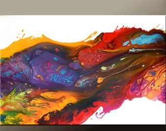 Abstract Canvas Art Painting Canvas 36x24 Original Modern Contemporary Paintings by Destiny Womack - dWo -  River of Dreams